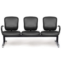 Leather beam chairs / metal / 3-seater / indoor