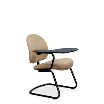 Contemporary visitor chair / tablet / upholstered / cantilever