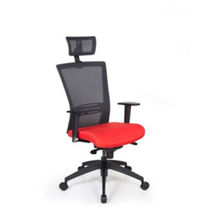 Contemporary office armchair / mesh / fabric / adjustable-height