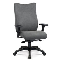 Contemporary office armchair / fabric / adjustable-height / reclining