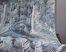 Contemporary wallpaper / polyester / nature pattern / panoramic