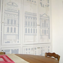 Contemporary wallpaper / polyester / urban motif / patterned