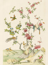 Traditional wallpaper / nature pattern / animal motif / non-woven