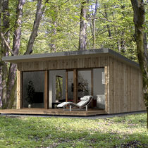 Prefab micro-house / modular / contemporary / energy-efficient