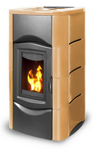 Pellet boiler stove / contemporary / cast iron / 1-sided