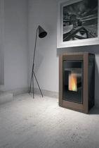 Pellet heating stove / contemporary / steatite