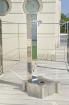 Garden fountain / stainless steel