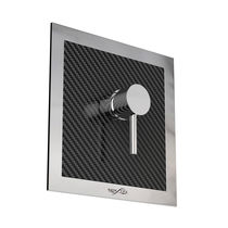 Shower mixer tap / wall-mounted / carbon fiber / outdoor