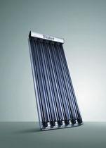 Evacuated tubular thermal panel / with frame