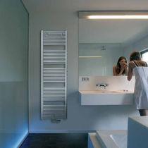 Hot water towel radiator / steel / chrome / contemporary