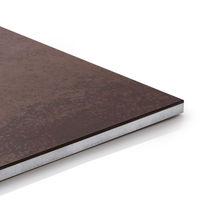 Construction panel / solar shading / for facade cladding / porcelain stoneware