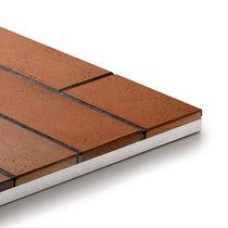 Brickwork wall cladding panel / porcelain stoneware / clinker / outdoor