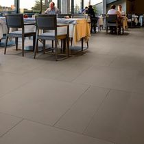 Stone flooring / for hotels / tile / satin finish