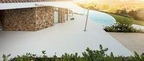 Natural stone flooring / for shops / residential / tile