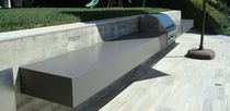 Natural stone countertop / outdoor / gray