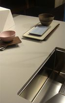Ceramic countertop / kitchen / gray