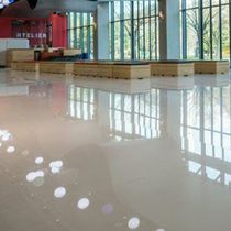 Natural stone floor covering / high-gloss / smooth / tile look