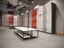 Metal locker / for public buildings / for sports facilities / secure