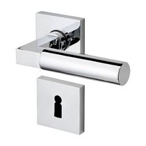 Door handle / metal / contemporary / with lock
