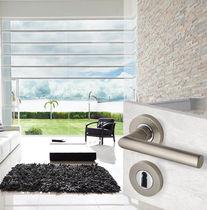 Door handle / metal / contemporary / with lock