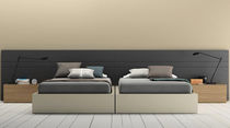 Double bed / contemporary / wooden / MDF