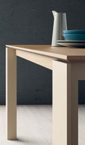 Dining table / contemporary / wooden / ceramic