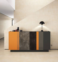 Contemporary sideboard / lacquered glass