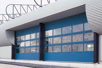 Sectional industrial door / metal / automatic / for public buildings