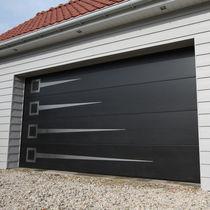 Sectional garage doors / wooden / aluminum / automatic