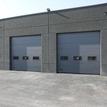 Sectional industrial door / metal / insulated / for public buildings