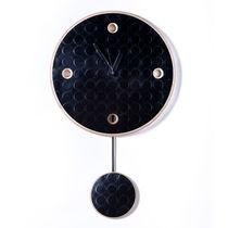 Contemporary clock / pendulum / wall-mounted / black