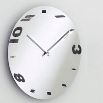 Contemporary clock / analog / wall-mounted / white