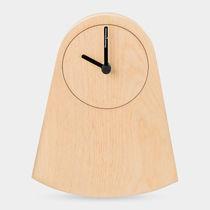 Contemporary clock / analog / desk / wooden