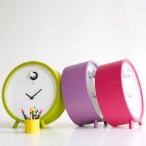 Contemporary clock / analog / desk / methacrylate