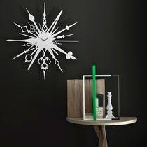 Contemporary clock / analog / wall-mounted / metal