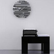 Contemporary clock / analog / wall-mounted / Murano glass