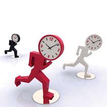 Contemporary clock / analog / desk / MDF