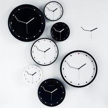 Contemporary clock / analog / wall-mounted / black