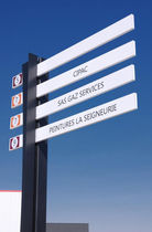 Orientation signboard / aluminum / double-sided
