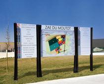 Outdoor display panel / steel