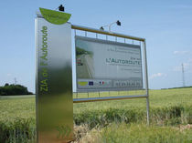 Outdoor display panel / stainless steel