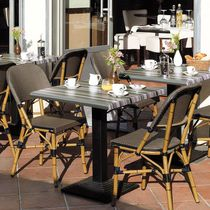 Contemporary restaurant chair / upholstered / stackable / fabric