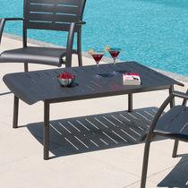 Contemporary coffee table / lacquered aluminum / rectangular / outdoor