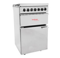 Gas range cooker / enameled / with grill / stainless steel