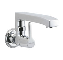 Wall-mounted mixer tap / chromed metal / kitchen / 1-hole