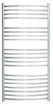 Electric towel radiator / vertical / stainless steel / wall-mounted
