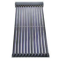 Evacuated tubular solar thermal collector / for heating / with anti-reflective glass / for roofs