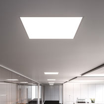 Recessed ceiling light fixture / LED / square