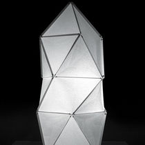 Floor lamp / contemporary / Japanese paper / LED