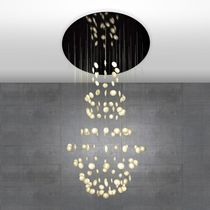 Contemporary chandelier / paper